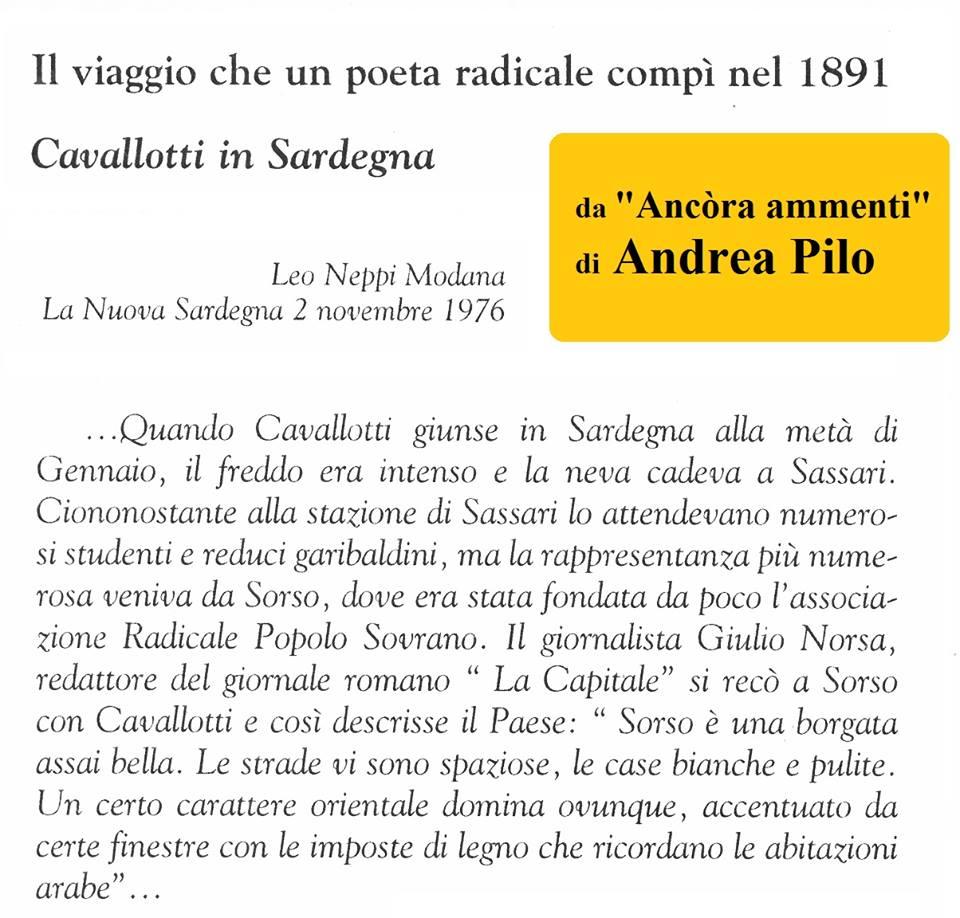 """CAVALLOTTI IL GARIBALDINO, CARMINE L'EDICOLANTE E """"L'ASPETTO ORIENTALEGGIANTE"""" DI SOSSU (!)"""